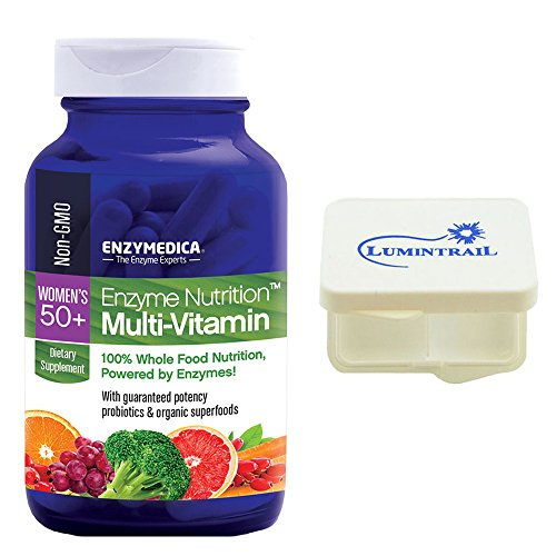 Enzyme Nutrition – Women's 50+ Multi-Vitamin, 100% Whole Food Nutrition, 120 Capsules and Includes a Lumintrail Pill Case For Sale