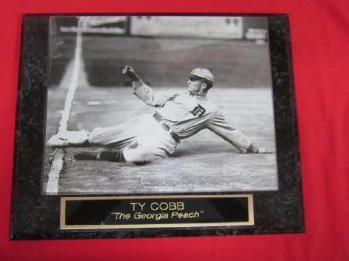 Ty Cobb Tigers Collector Plaque w/8x10 Sliding Action Photo #2