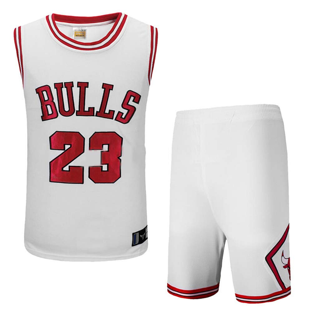 Hanbao Uomo NBA Michael Jordan # 23 Chicago Bulls Retro Pantaloncini da Basket Summer Jerseys Basket Maglie Uniforme Top e Shorts