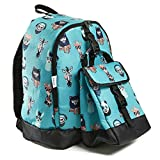 Fit & Fresh Elena Backpack for Kids with Matching Insulated Lunch Bag, School, Play, Girls, Teal Hip Animals