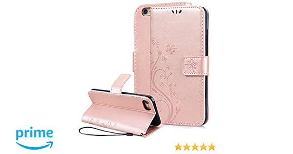 a25e1d3e7bb SmartLegend iPhone 8, iPhone 7 Wallet Case[Folio Style] [Kickstand Feature]  Premium Protective PU Leather Cover with Card Slot Side Pocket Magnetic ...