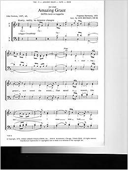 harmony for amazing grace sheet
