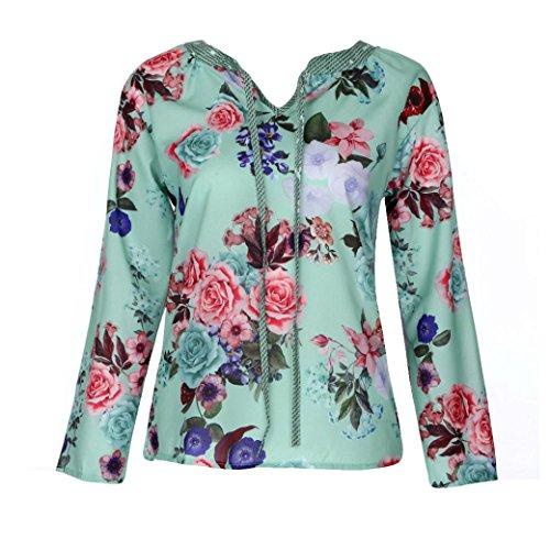 f75457895199c Wing Col shirts Chemise Manches automne De Rond Top Lâche Imprimer Casual  Blouse Soie Tank En Courtes Mode T Femmes ...
