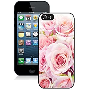 Personalized Phone Case Design with Fresh Pink Roses Flowers Closeup iPhone 5s Wallpaper