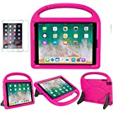 New iPad 9.7 2018 2017 / iPad Air / Air 2 / Pro 9.7 Case for Kids - SUPLIK Shockproof Protective Lightweight Handle Bumper Stand Cover with Screen Protector, Pink