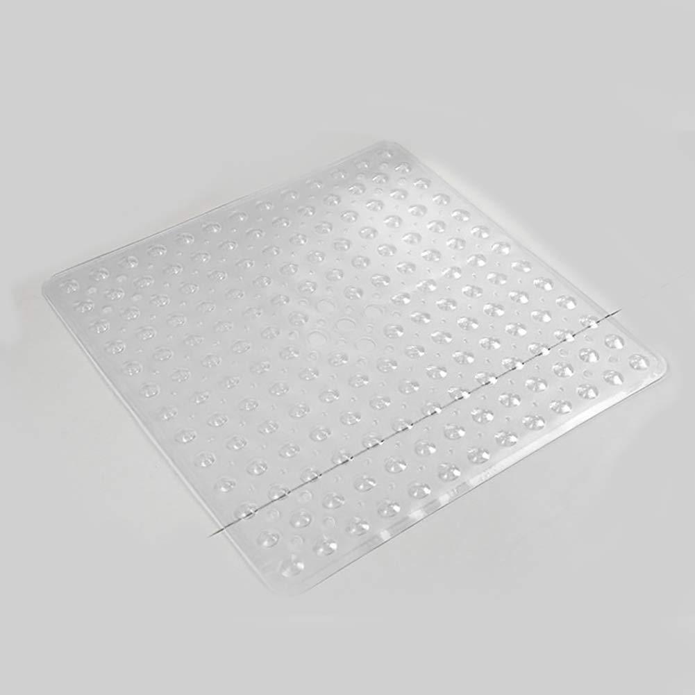 in PVC Flessibile inodore Ecologico Antiscivolo per Proteggere la Doccia 53 x 53 cm con Ventose Bianco Taglia Libera Tappetino da Doccia Anti-Fungo NANAD