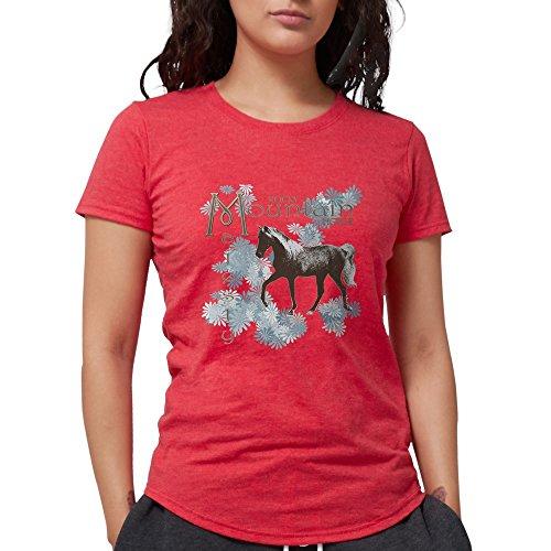 CafePress Rocky Mountain Majesty T-Shirt Womens Tri-Blend T-Shirt Heather Red