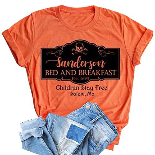 HRIUYI Sanderson Bed and Breakfast Shirt Women Halloween Hocus Pocus Blouse Tops Tee