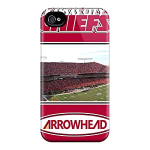 Tpu Case Cover For Iphone 4/4s Strong Protect Case - Kansas City Chiefs Design