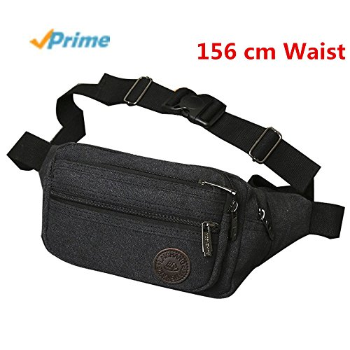 Fanny Pack Rugged Multi-functional With Zippered Compartments Tour Lumbar Pack Sports Bag Waist Pack | Stylish Unisex Design