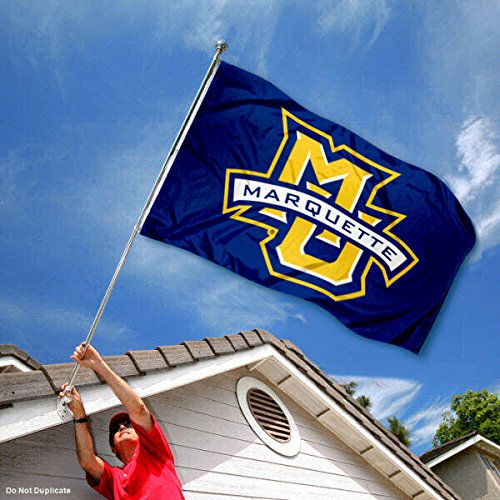 College Flags and Banners Co Marquette University Golden Eagles Dual Logo Double Sided Flag