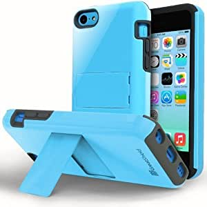 GreatShield Legacy Series Ultra Slim Fit Dual Layer Hybrid Case with Kickstand for Apple iPhone 5 / 5S / 5C (Blue)