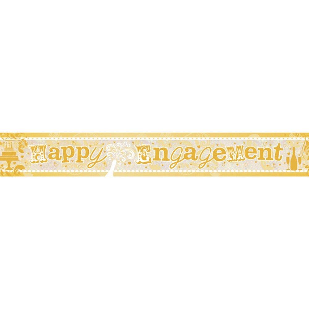 amscan 9900013 2.7 m Happy 1st Birthday Boy Holographic Foil Banner