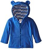 Gerber Infant Boys' Hooded Micro Fleece Jacket,Blue,0-3 Months