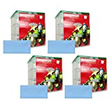 Four Snapware 3-Layer Ornament Keepers w/ Four Blue Microfiber Low-lint Polishing Cloths