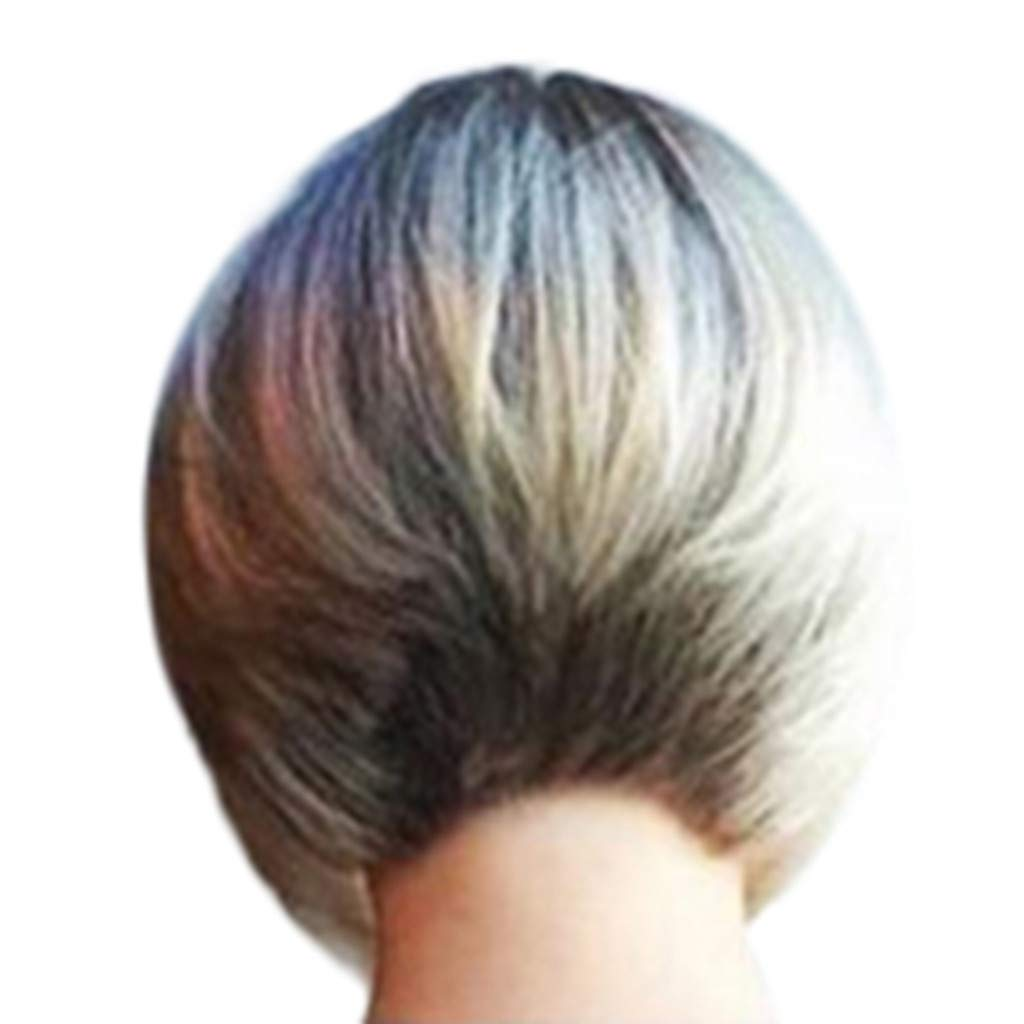 [by Mollikar] Short Bob Hair Wigs 11'' Straight with Gold Dyeing Synthetic Hair Gold Cosplay Daily Party Wig for Women Natural As Real Hair