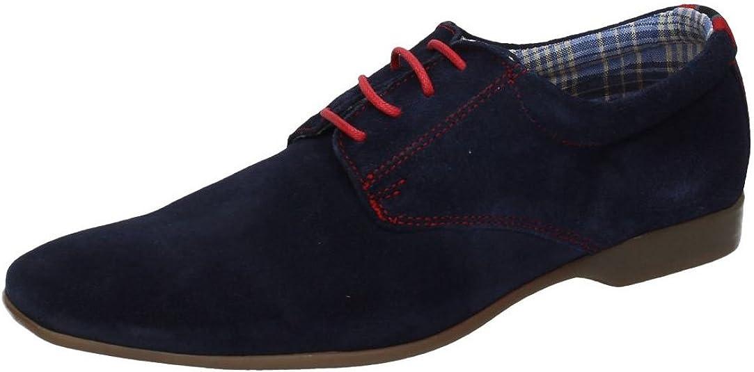 TALLA 41 EU. RIVERTY 210 Zapato DE Piel Azul Hombre Zapatos CORDÓN