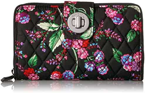 Vera Bradley RFID Turnlock Wallet, Signature Cotton