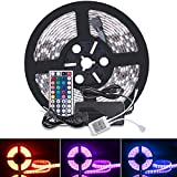 Boomile Led Strip Lights, Waterproof SMD 5050 RGB 16.4Ft 5M 300leds Multi-Color Dimmable Strip Lights Flexible Led Rope Lights with 44key Remote Controller + 12V 5A Power Supply + IR control Box