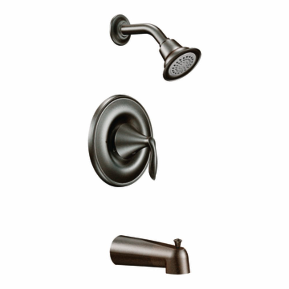 Moen T2133EPORB Eva Posi-Temp Tub and Shower Trim Kit without Valve, Oil Rubbed Bronze by Moen
