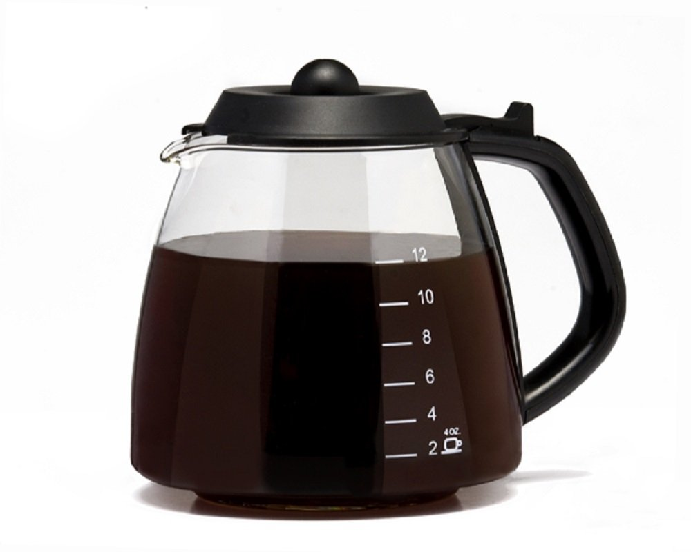CAFÉ BREW COLLECTION Universal 12 Cup Replacement Carafe for Cuisinart, Mr. Coffee, Bunn, etc Medelco 123ABC