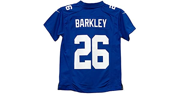 b0abad843e8 Amazon.com   NIKE Saquon Barkley York Giants Team Color Preschool Game  Jersey (Small 4)   Sports   Outdoors