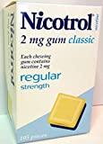 Nicotrol Gum 2 mg Classic Flavor 12 Boxes 105 Pieces