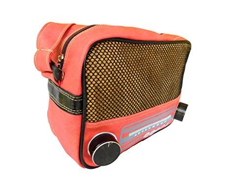 Jukebox Musicbox Schultertasche Damentasche schweinchen rosa Reissverschluss 25,5x21x9 cm