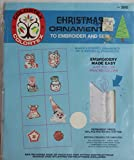 Colortex Embroidery Kit Christmas Ornaments Embroider and Sew 8 #3040