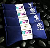 Namaste Yoga Eye Pillows | Lavender Eye Pillow for Yoga | Set of 4 | Navy Cotton by Happy Wraps