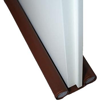 Türbodendichtung 95cm x 25mm in grau Doppeldichtung Dichtung Zugluftstopper