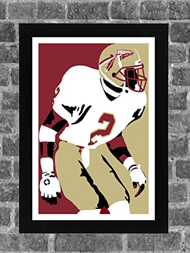 Florida State Deion Sanders Portrait Sports Print Art 11x17