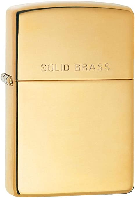 Zippo High Polish Brass Mechero, Hochpoliertes Messing-Feuerzeug, 3,5x1x5,5 cm: Amazon.es: Deportes y aire libre