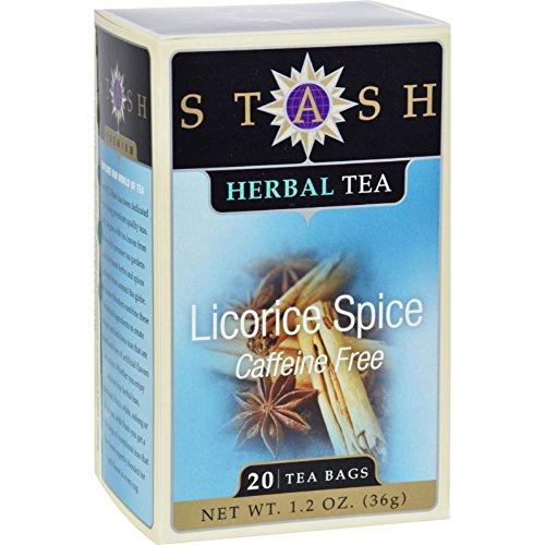 - Stash Tea Company Premium Licorice Spice Herbal Tea - Caffeine Free - Case Of 6 - 20 Bags