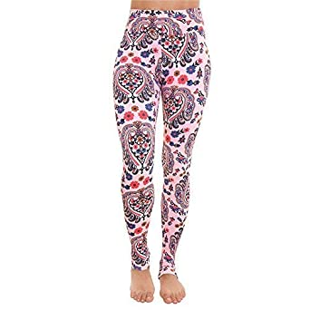 7733c7e4cb94 Liquido Active Women s Extra Long Patterned Yoga Legging Pink ...
