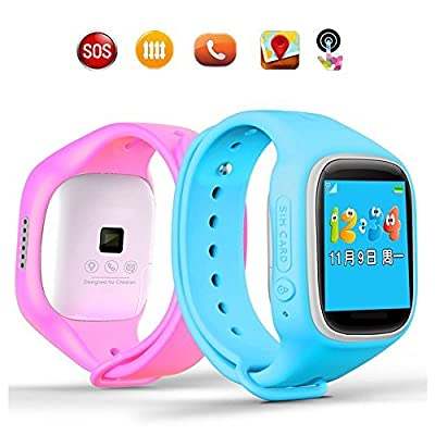 GBD-2016 Newest 1.44inch Touch Screen GPS Tracker Kids Smartwatch Wrist Sim Watch Phone Anti-lost SOS Gprs Children Bracelet Parent Control By Apple Iphone IOS Android Smartphone