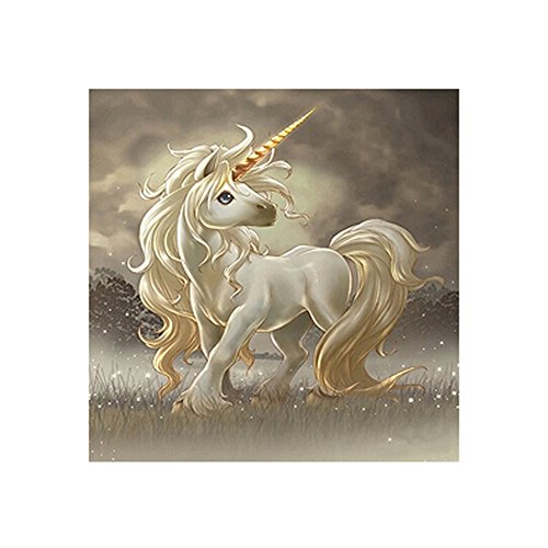 Whitelotous Running Unicorn 5D Diamond Painting Embroidery DIY Paint-By-Number Kit Home Wall Decor 12 x 12 Inch