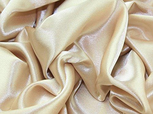 (Satin Backed Crepe Bridal Fabric Gold - per metre)