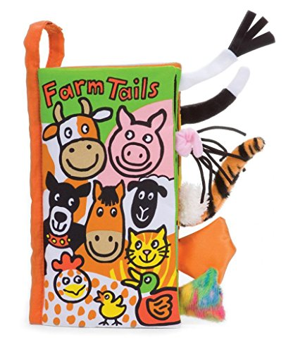 Jellycat Soft Cloth Books, Farm (Farm Tails Book)