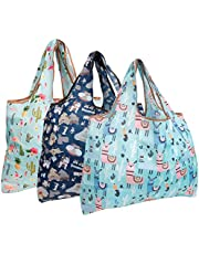 allydrew Reusable Grocery Bags, 3 Pack
