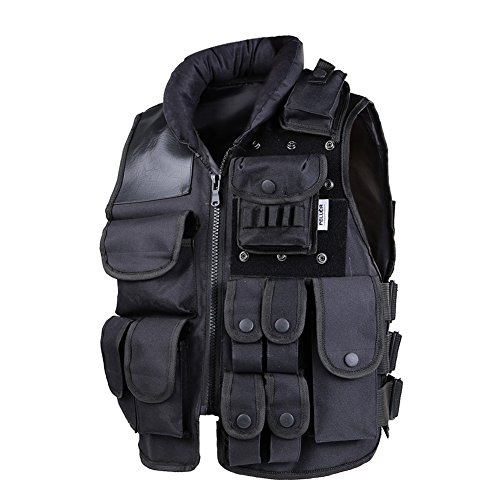 Swat Tactical Vest Costume (Pellor Tactical vest outdoor live-action CS field protective security training (X-large))