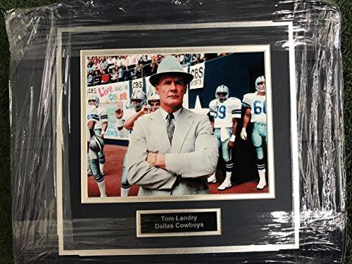 (Dallas Cowboys Tom Landry Image Photo Texas Stadium Seat Bottom UNIQUE)
