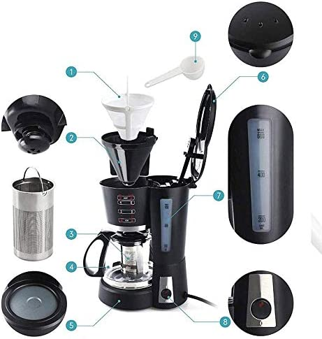 Dmqpp Machine à café Machine à Machine, Machine à café, Capsule café, café Automatique Goutte à Goutte de ménage, Machine Cappuccino, Latte Machine