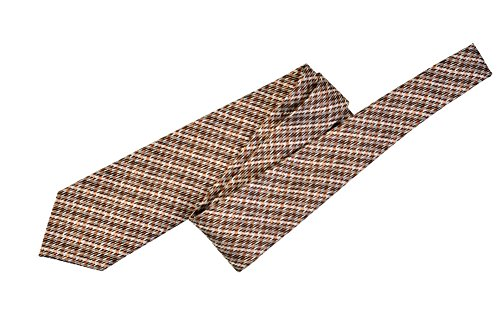 Tom Ford Gray Copper Check Silk Skinny Neck Tie by Tom Ford..