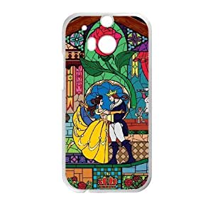 Durable Phone Case HTC One M8 Cell Phone Case White Cavoy Beauty and the Beast Plastic Durable Cover