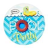 BirthdayExpress Summer Beach Ball Pool Party Supplies - Invitations (8)