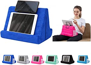 Pillow Tablet Stand for Ipad Stand Mult-Angle Tablet,with Phone Holder Lap Stand Mobile Phone Holder (Blue)