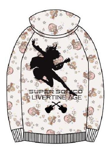 LIVERTINEAGE × すーぱーそに子 総柄ZIPパーカー GRY サイズ:M