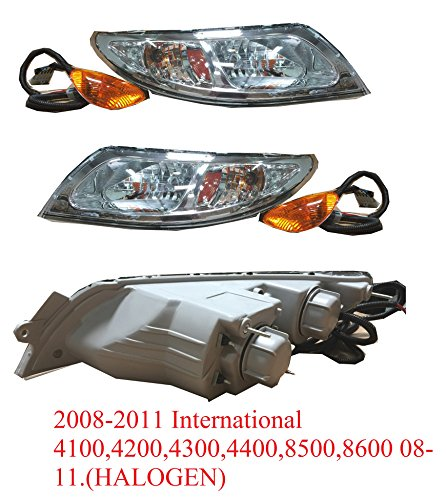 "ONE SET OF 2PCS LEFT & RIGHT ""HEAD LIGHT"" FOR 2008-2011 International 4100,4200,4300,4400,8500,8600"