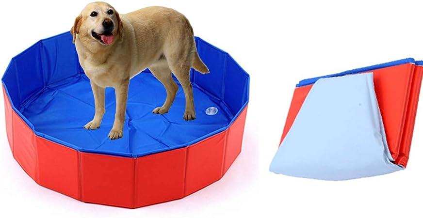 AEF Perro Plegable Piscina para Mascotas Bañera para Bañarse Piscina para Niños Robusta Antideslizante, para Perros, Gatos Y Niños En Interiores, Exteriores, 120X30 Cm: Amazon.es: Hogar
